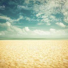 Sol em praias vazias-visual vintage foto royalty-free