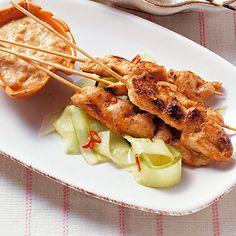 Saté-Spieße mit Erdnuss-Sauce Rezept | Küchengötter