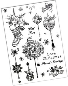 Hunkydory Clearly Stamps - Love Christmas - Love Christmas