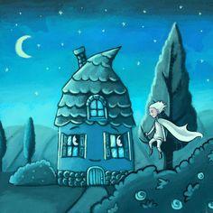 The Wind and the house friendship, Marzena Stanislawska on ArtStation at https://www.artstation.com/artwork/lEOJ5