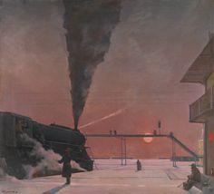 Georgy Nissky, 1903-1987, EN ROUTE, 1959-64, oil on canvas, 141 x 154cm