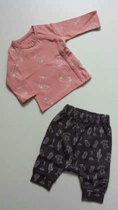 nOeser allover cactus baggy pants & boots cardigan pink