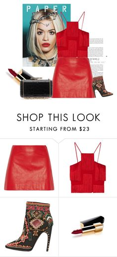 """""""Red&Black"""" by nitagashi ❤ liked on Polyvore featuring Miu Miu, Versace, Emilio Pucci, Chanel and Givenchy"""