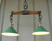 Antique harness yoke made into rustic lighting. I am going to do something similar with mine. The one I have is longer tho. Antique harness yoke made into rustic lighting. I am going to do something similar with mine. The one I have is longer tho. Industrial Furniture, Vintage Industrial, Rustic Furniture, Upcycled Vintage, Industrial Shop, Industrial Table, Pipe Furniture, Furniture Vintage, Repurposed