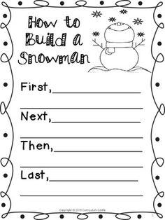 How to build a snowman writing assignment