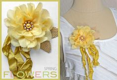 Spring Flower Pins with tutorial