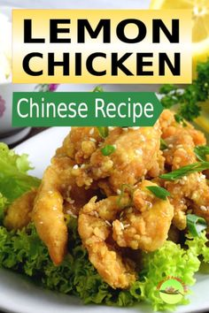 This easy Chinese lemon chicken recipe take only 3 simples steps. Asian style crispy lemon chicken with fresh lemon juice, zest and honey. Chinese Lemon Chicken, Cashew Chicken, Asian Chicken, Chinese Food, Korean Food, Meat Recipes, Seafood Recipes, Asian Recipes, Chicken Recipes