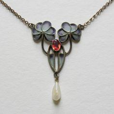 Jugendstil Art | Art Nouveau/Jugendstil Plique Vermeil Necklace from redrobinantiques ...