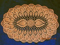 Ravelry: Oval Pineapple Doily pattern by American Thread Company Free Crochet Doily Patterns, Crochet Mandala, Crochet Designs, Free Pattern, Crochet Home, Crochet Crafts, Thread Crochet, Knit Crochet, Crochet Dollies