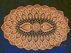 #_OVAL Pineapple Crochet Doily. Free pattern.