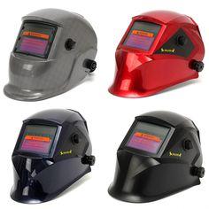 Oscurecimiento automático de soldadura Solar soldadores máscara de casco con la función de molienda 4 colores