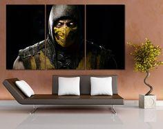 #HomeDécor#WallDécor#Mortal Kombat #Canvas#GamePoster#Video Game #artprint#Roomdecor #Art#Retrogaming#Retro #poster#Scorpio #ScorpioMovie #geek #men #mencave   Mortal Kombat Canvas Print Mortal Combat Wall Art Video Game