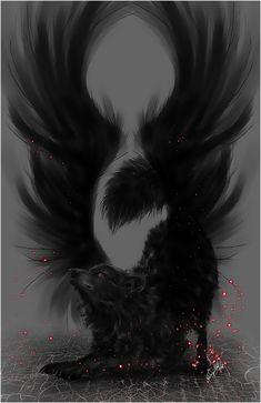 .:Black Winged Wolf:. by =WhiteSpiritWolf on deviantART