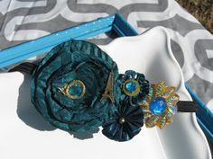 Beautiful Hair Band Head Band with a Vintage Peacock by corrina318, $9.50