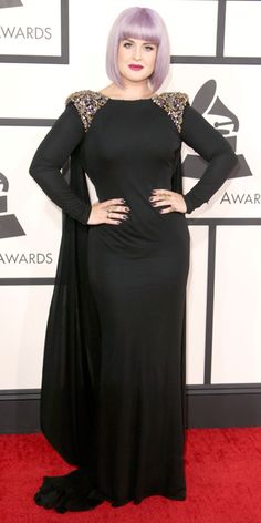 2014 Grammy Red Carpet Arrivals - Kelly Osbourne from #InStyle.  I believe Kelly could have done better than this dress.