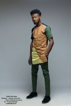 Nigerian designer, Veens Clothing has again raised the bar of casual native dresses in the fashion industry with these exciting and amazing new - BellaNaija Style. African Shirts For Men, African Dresses Men, African Clothing For Men, African Wear, African Inspired Fashion, African Print Fashion, Mens Hottest Fashion, Nigerian Men Fashion, Native Style
