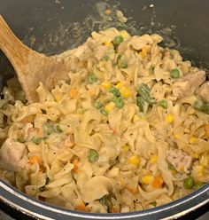 This Instant Pot Chicken Noodle Casserole is a one pot meal! Perfectly cooked pasta, flavorful chicken, and mixed veggies combined! Chicken And Egg Noodles, Chicken Noodle Casserole, Ip Chicken, Instant Pot Pressure Cooker, Pressure Cooker Recipes, Pressure Cooking, Slow Cooker, Egg Noodle Recipes, Instant Pot Dinner Recipes