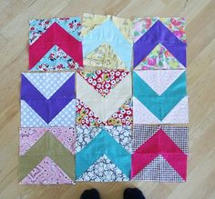 Forties Chevron Block from Cluck Cluck Sew