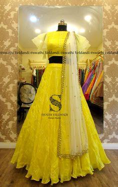 Awesome Elegant Designer Sari Blouse Click VISIT link above for more info - Saree Blouses Half Saree Lehenga, Lehenga Skirt, Lehnga Dress, Lehenga Blouse, Indian Bridal Outfits, Indian Bridal Lehenga, Indian Designer Outfits, Designer Clothing, Designer Wear