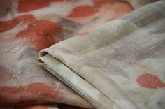Montserrat Lira Diseño textil hecho en Chile Ecoprint en seda Colección 2016