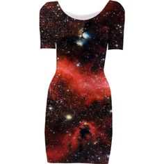 Pink Galaxy Short Sleeved Bodycon Dress - Available Here: http://printallover.me/products/0000000p-pink-galaxy-6