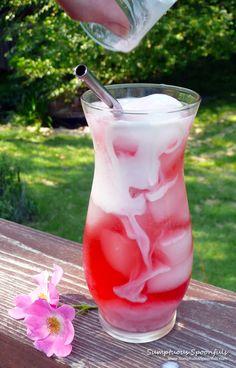 Strawberry Rose Italian Cream Sodas