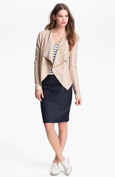 Halogen 'Waterfall' Leather Jacket | Nordstrom