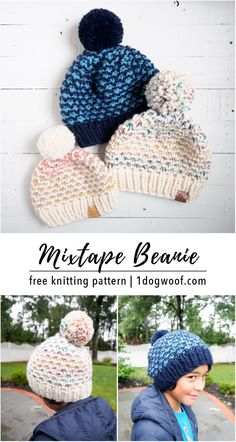 Free knit hat pattern for the Mixtape Beanie, in support of World Day of Bullying Prevention on October Available in 3 sizes. Mens Hat Knitting Pattern, Knitting Patterns Free Dog, Knit Beanie Pattern, Crochet Beanie, Free Knitting, Crochet Hats, Crochet Patterns, Knitted Hats Kids, Knit Hats