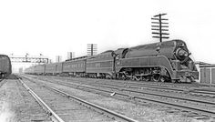 "The ""South Wind"" was operated between Chicago and Miami, a route which has no Amtrak counterpart today. Frank Ardrey photographed a northbound edition pulling into the L&N station in Birmingham on August 25, 1946, pulled by Pacific #295. The 295 pulled a very large tender, with a capacity of 20,000 gallons of water and 27 tons of coal, which allowed it to make the run from Birmingham to Nashville -- 205 miles -- nonstop, at 55 miles per hour"