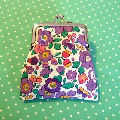 Pretty Floral Liberty Print Small Change Coin C... - Folksy