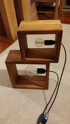 Wooden box led lamps