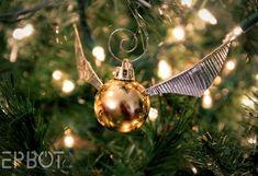 DIY Golden Snitch ornament