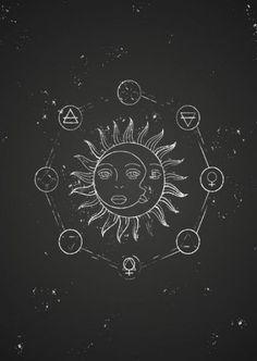 Best Tattoo Moon Sun Stars Universe Ideas Best Tattoo Moon Sun Stars Universe Id. Flash Tattoos, Cool Tattoos, Gravure Illustration, Illustration Art, Tattoo Sonne Mond, Spiritual Tattoo, Sun And Stars, Beste Tattoo, Sun Moon