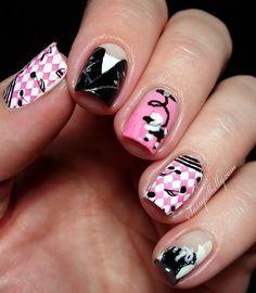 50's inspried Sock Hop party nail art  |  Sassy Shelly Nail Polish Designs, Nail Designs, 50s Sock Hop, 50s Theme Parties, Sock Hop Party, Makeup Themes, Birthday Presents For Girls, Bridal Nail Art, Birthday Makeup