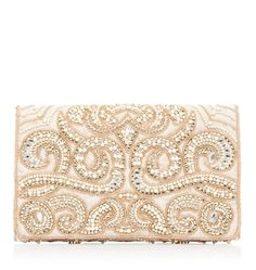 Women's Purses : Nadine Embellished Clutch - Forever New - Fashion Inspire Beaded Clutch, Beaded Bags, Gold Clutch, Prom Accessories, Fashion Accessories, Cheap Designer Handbags, Replica Handbags, Designer Wallets, Designer Bags