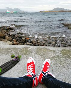 Shoes + skateboard + fjord = lovely Photo by @khshoestar + @kingbaxrd