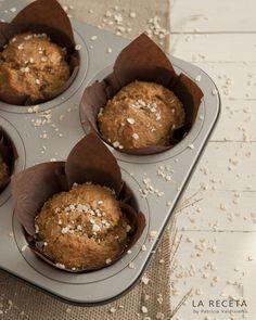Muffins integrales de espelta con manzana y zanahoria