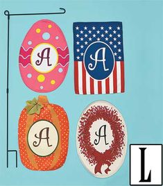 5-Pc. Monogram Seasonal Flag Set