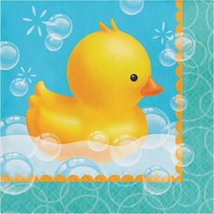 Party Creations Bubble Bath Birthday Lunch Napkins, 16 Ct