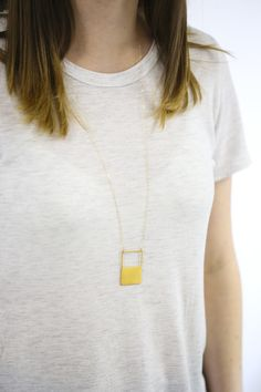 This necklace from Baleen is made right here in the PNW. Love the long length.