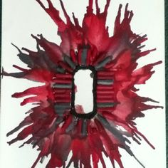 Melted Crayon Art , Ohio State Block O :)