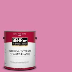 BEHR Premium Plus 1-gal. #100B-5 Springtime Bloom Hi-Gloss Enamel Interior/Exterior Paint-840001 at The Home Depot