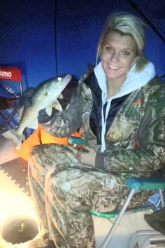 Women and girls get into Ice fishing too! Time to bring home dinner!
