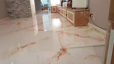 High Gloss White Orange Marble Effect Epoxy Resin Flooring Residential Modern Interior Design Idea. Residential Home Renovation Designed and Fit Using Jenflow Systems Ltd Epoxy Resin Supplies, UK Ireland Scotland Training, Machinery and Epoxy Resin Preparation Tools. Epoxy Resin Flooring, Epoxy Countertop, Epoxy Resin Supplies, Metallic Epoxy Floor, Marble Effect, Modern Interior Design, White Marble, Home Renovation, High Gloss