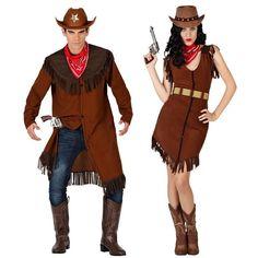 Pareja Disfraces de Vaqueros Sheriff #parejas #disfraces #carnaval