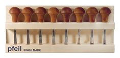 Pfeil Tools Palm Carving Tools Set of 12