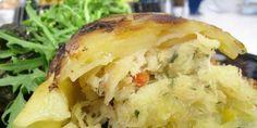 Bacalhau enformado em batata