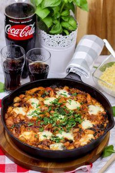 Kurczak z fasolą i pieczarkami w pomidorowym sosie ⋆ M&M COOKING Yummy Food, Tasty, Paella, Chili, Chicken Recipes, Food Porn, Food And Drink, Menu, Soup