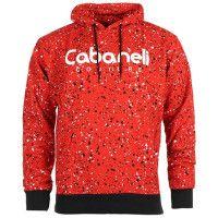 Cabaneli - Sweat Capuche Snow Rouge Noir Blanc