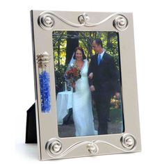 Jewish Wedding Gift Crushed Gl Picture Frame